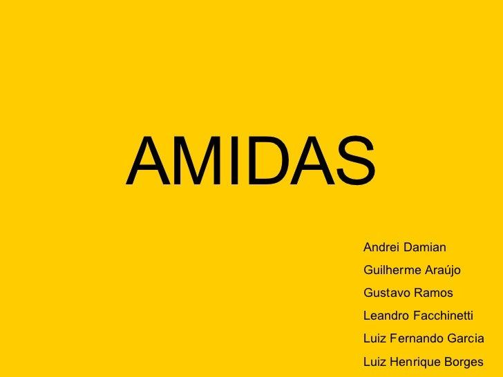 AMIDAS Andrei Damian Guilherme Araújo Gustavo Ramos Leandro Facchinetti Luiz Fernando Garcia Luiz Henrique Borges