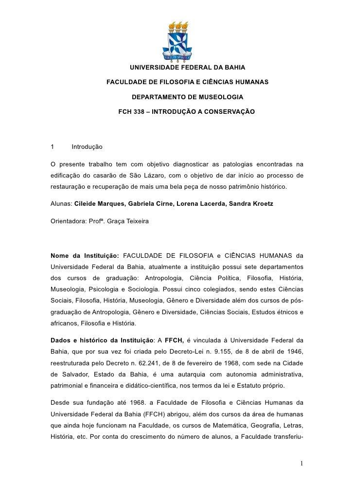 UNIVERSIDADE FEDERAL DA BAHIA                      FACULDADE DE FILOSOFIA E CIÊNCIAS HUMANAS                              ...
