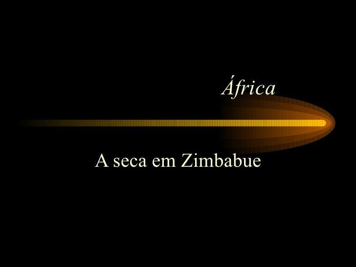 África A seca em Zimbabue