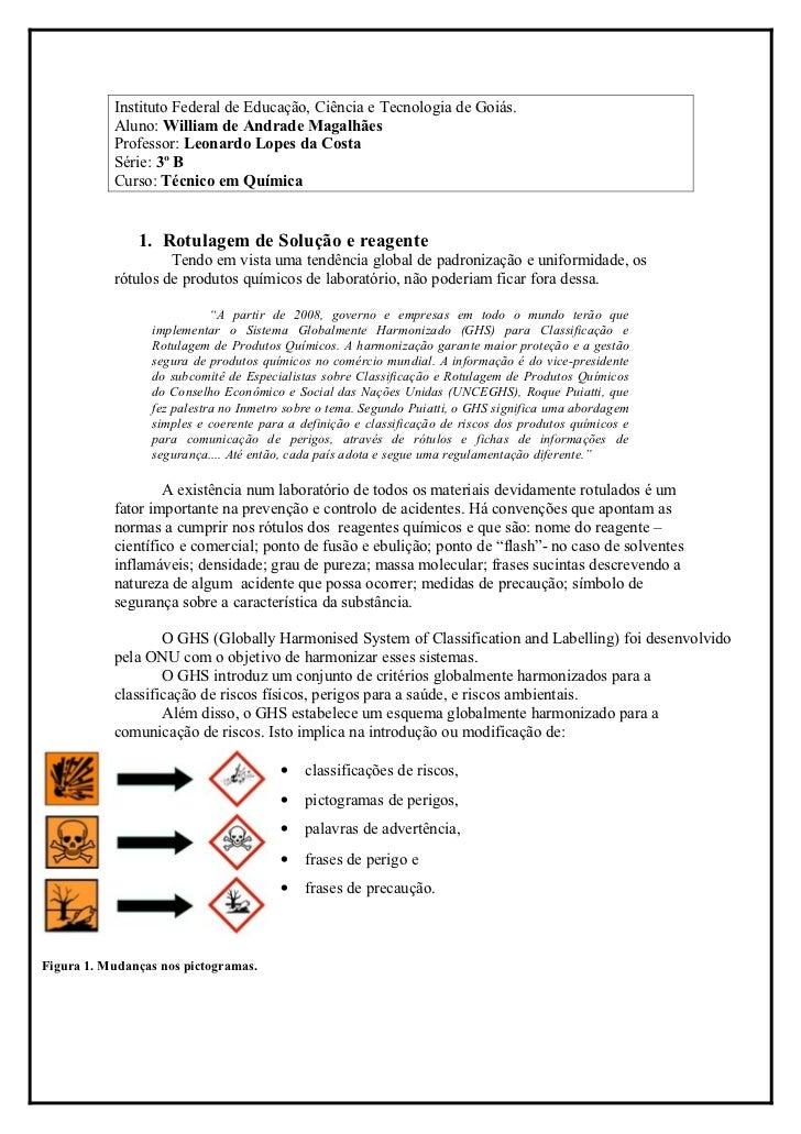 Instituto Federal de Educação, Ciência e Tecnologia de Goiás.           Aluno: William de Andrade Magalhães           Prof...