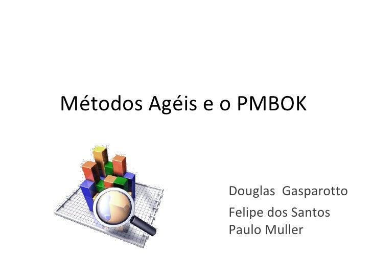 Métodos Ágeis e o PMBOK  Douglas  Gasparotto Felipe dos Santos Paulo Muller