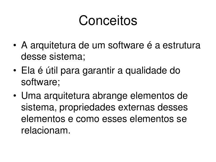 Um Levantamento de Métodos de Avaliação de Arquiteturas de Software Específicas Slide 3