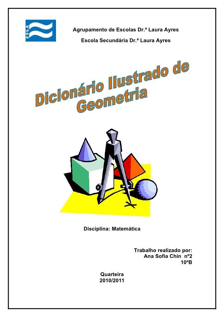 Agrupamento de Escolas Dr.ª Laura Ayres     Escola Secundária Dr.ª Laura Ayres        Disciplina: Matemática              ...