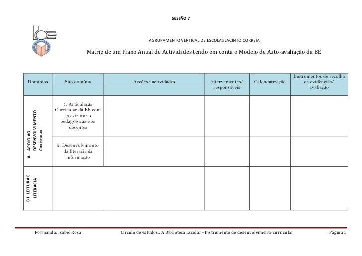 342900266700SESSÃO 7<br />AGRUPAMENTO VERTICAL DE ESCOLAS JACINTO CORREIA<br />Matriz de um Plano Anual de Actividades ten...