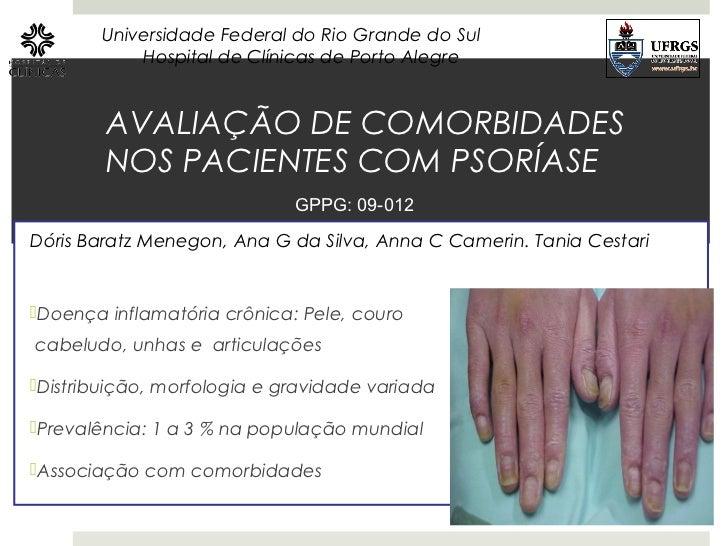 Universidade Federal do Rio Grande do Sul           Hospital de Clínicas de Porto Alegre        AVALIAÇÃO DE COMORBIDADES ...