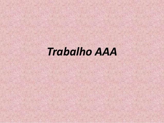 Trabalho AAA