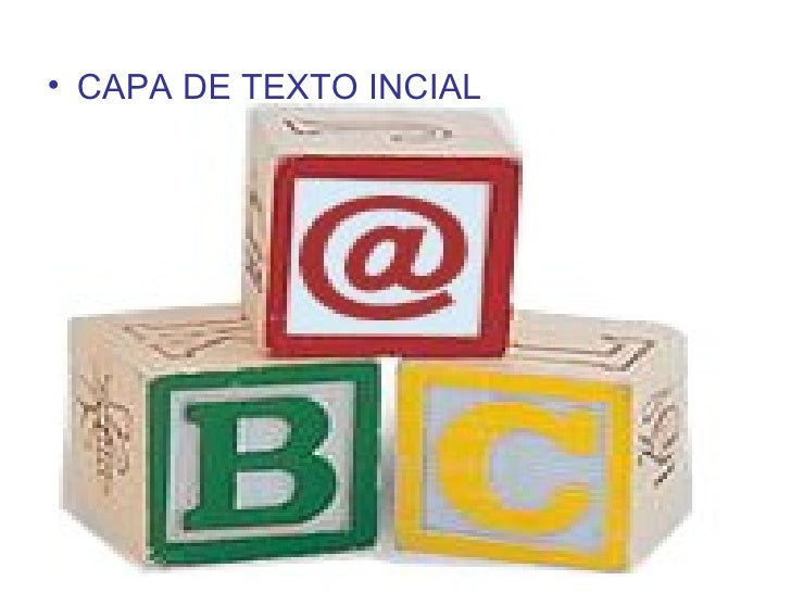 <ul><li>CAPA DE TEXTO INCIAL </li></ul>