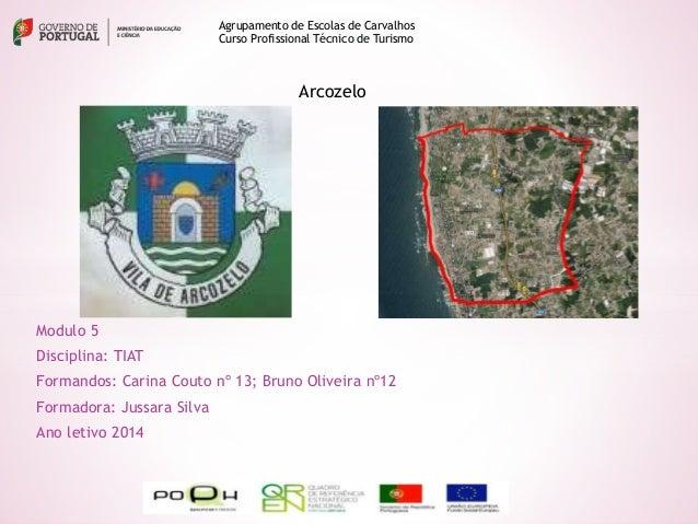 Modulo 5 Disciplina: TIAT Formandos: Carina Couto nº 13; Bruno Oliveira nº12 Formadora: Jussara Silva Ano letivo 2014 Agru...