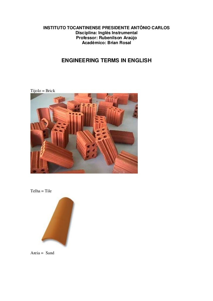 INSTITUTO TOCANTINENSE PRESIDENTE ANTÔNIO CARLOS                    Disciplina: Inglês Instrumental                    Pro...