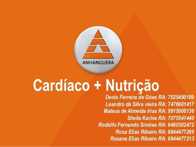 Denis Ferreira de Góes RA: 7025490189 Leandro da Silva vieira RA: 7476681417 Mateus de Almeida Irias RA: 9915008136 Sheila...