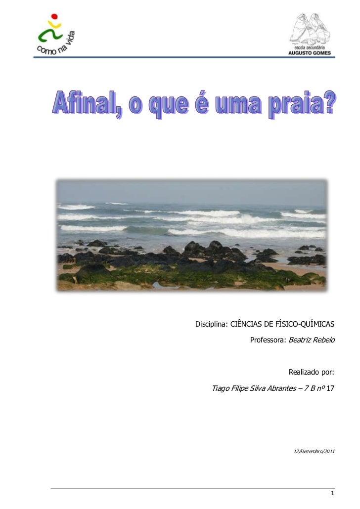 Disciplina: CIÊNCIAS DE FÍSICO-QUÍMICAS                Professora: Beatriz Rebelo                            Realizado por...