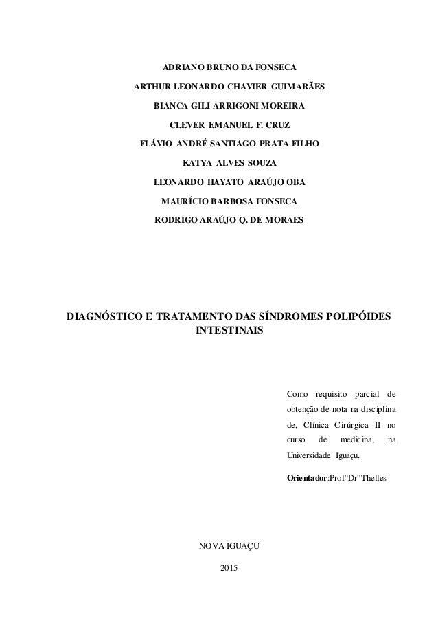 sindromes polipoides intestinais Slide 2