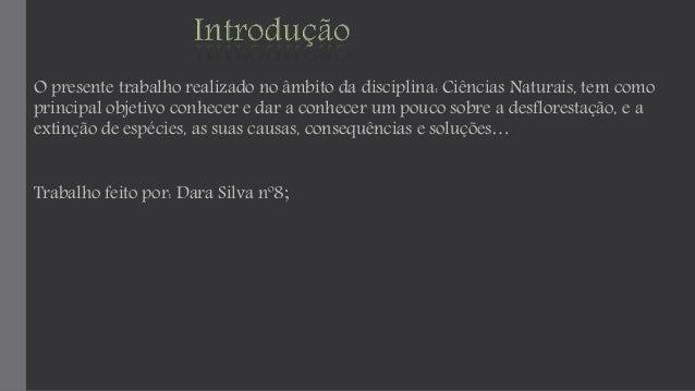 O presente trabalho realizado no âmbito da disciplina: Ciências Naturais, tem como  principal objetivo conhecer e dar a co...