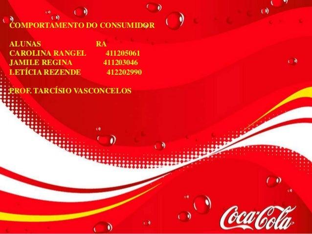 COMPORTAMENTO DO CONSUMIDORALUNAS            RACAROLINA RANGEL     411205061JAMILE REGINA      411203046LETÍCIA REZENDE   ...