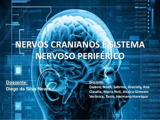 NERVOS CRANIANOS E SISTEMA  NERVOSO PERIFÉRICO  Doscente:  Diego da Silva Neves  Discente:  Daiana, Noeli, Sabrina, Gracie...