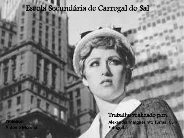 Escola Secundária de Carregal do Sal  Professor: António Moreno  Trabalho realizado por: Alexandra Marques nº1 Turma: CEFF...