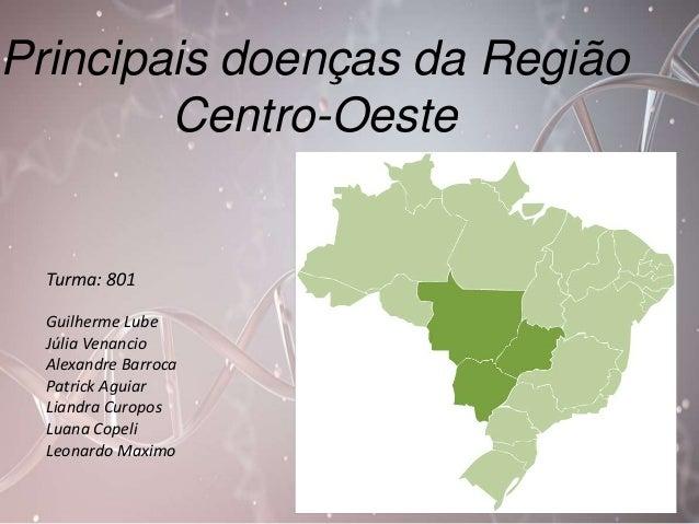 Principais doenças da Região  Centro-Oeste  Turma: 801  Guilherme Lube  Júlia Venancio  Alexandre Barroca  Patrick Aguiar ...