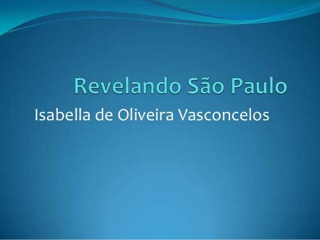 Isabella de Oliveira Vasconcelos