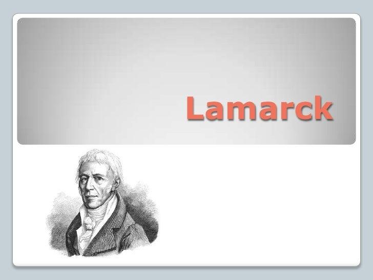 Lamarck<br />