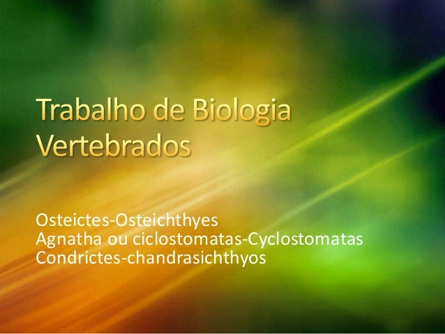 Osteictes-Osteichthyes Agnatha ou ciclostomatas-Cyclostomatas Condrictes-chandrasichthyos