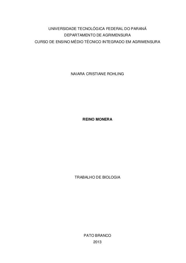 UNIVERSIDADE TECNOLÓGICA FEDERAL DO PARANÁ DEPARTAMENTO DE AGRIMENSURA CURSO DE ENSINO MÉDIO TÉCNICO INTEGRADO EM AGRIMENS...