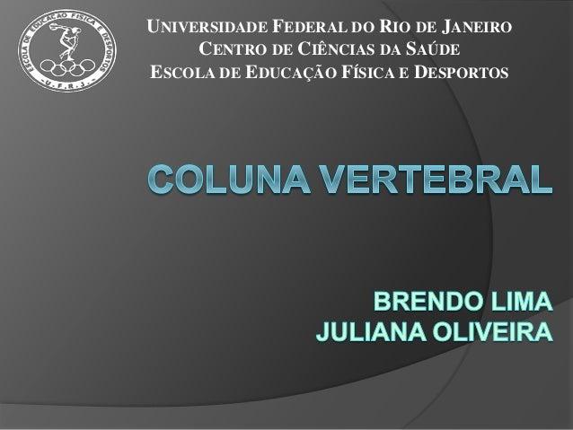 UNIVERSIDADE FEDERAL DO RIO DE JANEIRO CENTRO DE CIÊNCIAS DA SAÚDE ESCOLA DE EDUCAÇÃO FÍSICA E DESPORTOS