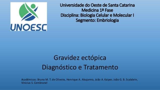 Gravidez ectópica Diagnóstico e Tratamento Acadêmicos: Bruno M. T. de Oliveira, Henrique A. Abujamra, João A. Kaiper, João...