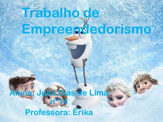 Aluna: Julia Dias de Lima n°14 Professora: Érika Trabalho de Empreendedorismo