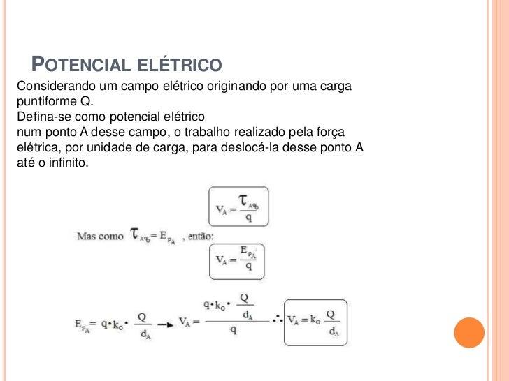 Força eletrica formula