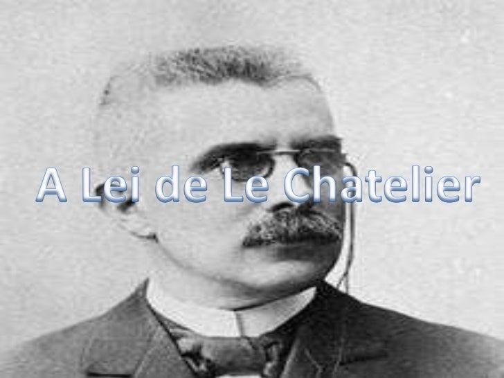 A Lei de LeChatelier<br />