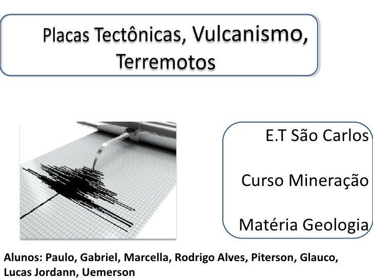 E.T São Carlos                                              Curso Mineração                                              M...