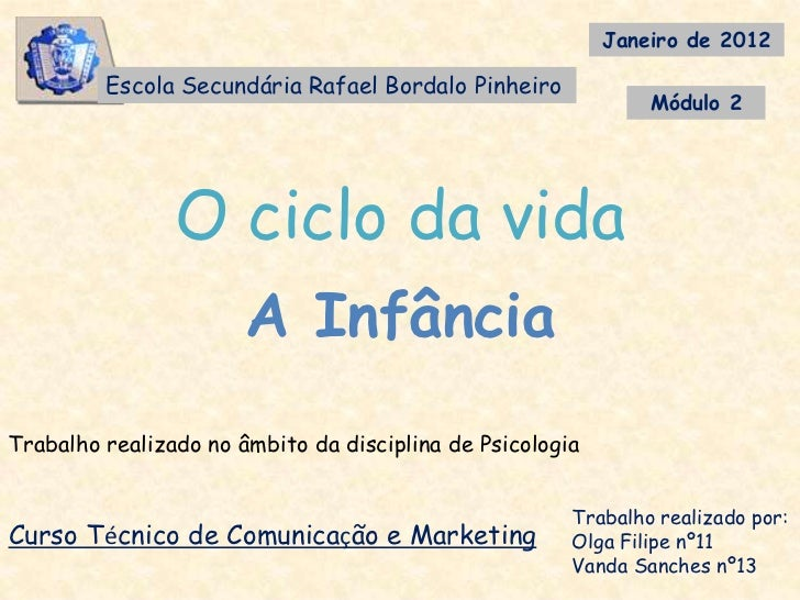 Janeiro de 2012         Escola Secundária Rafael Bordalo Pinheiro                                                         ...