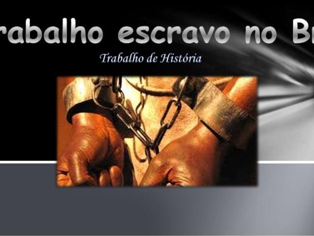 No Brasil, a escravidão teve início com a produção de açúcar na primeira metade do século XVI. Os portugueses traziam os n...