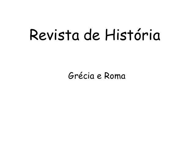 Revista de História Grécia e Roma