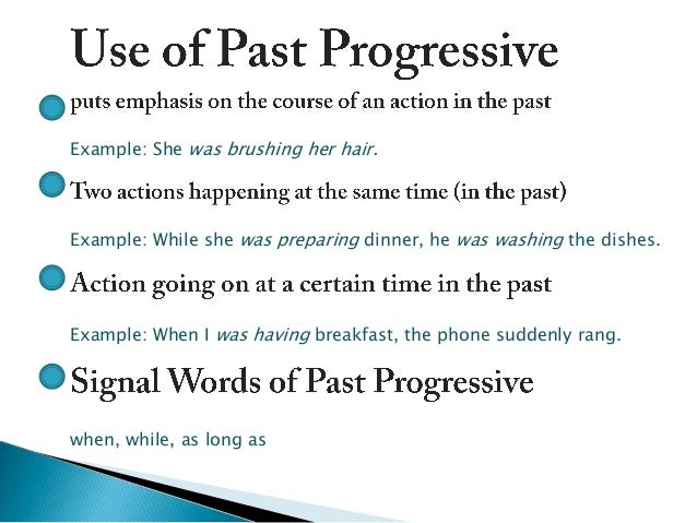 simple past or past progressive An intermediate english lesson which looks at the meaning and use of past simple and past continuous we use simple for finished actions, and continuous for .