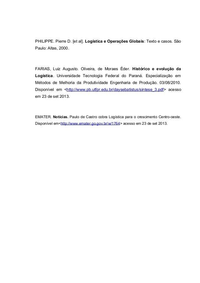 Trabalho de logistica do centro oeste 6 philippe pierre d et al logstica e operaes globais texto e casos fandeluxe Choice Image