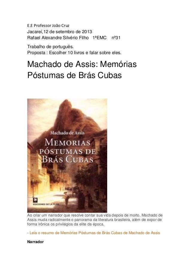 E.E Professor João Cruz Jacareí,12 de setembro de 2013 Rafael Alexandre Silvério Filho 1ªEMC nº31 Trabalho de português. P...