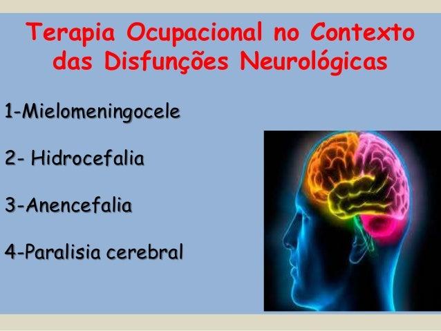 Terapia Ocupacional no Contexto  das Disfunções Neurológicas  1-Mielomeningocele  2- Hidrocefalia  3-Anencefalia  4-Parali...