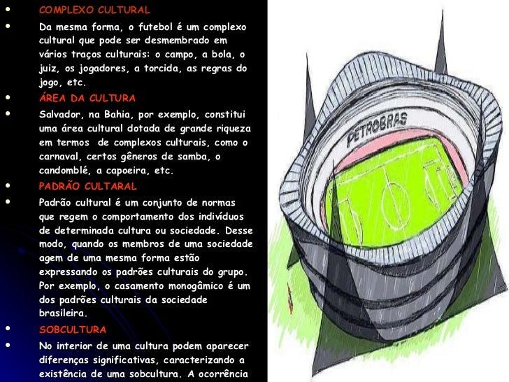 <ul><li>COMPLEXO CULTURAL </li></ul><ul><li>Da mesma forma, o futebol é um complexo cultural que pode ser desmembrado em v...