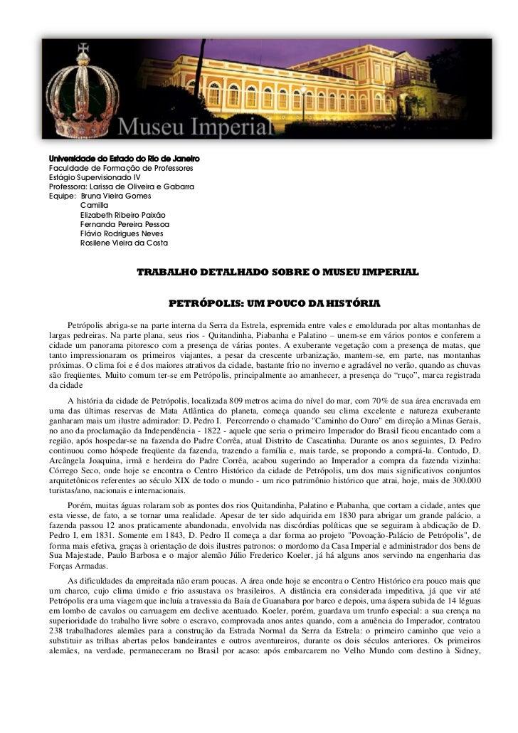 Universidade do Estado do Rio de JaneiroFaculdade de Formação de ProfessoresEstágio Supervisionado IVProfessora: Larissa d...