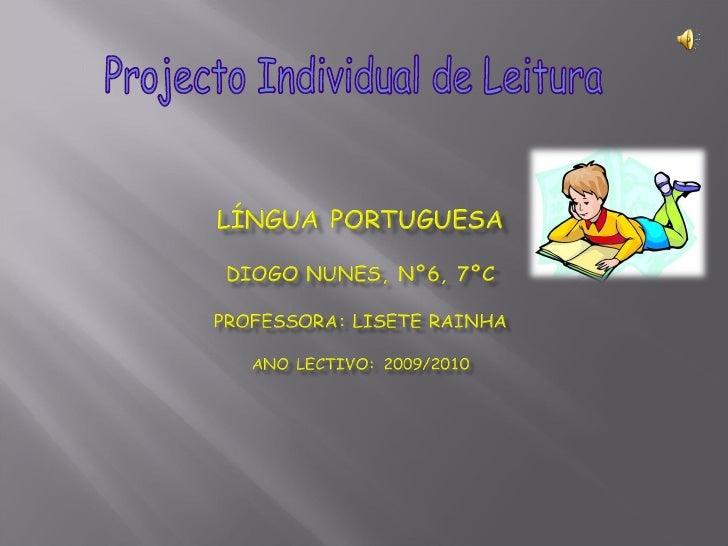 Projecto Individual de Leitura