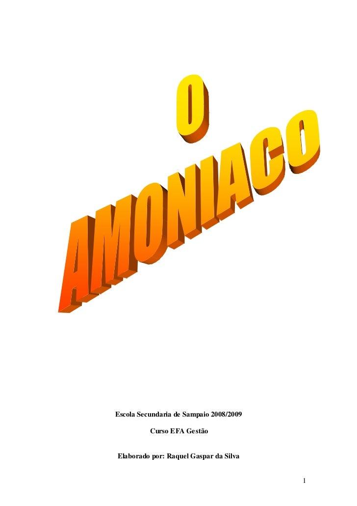 Escola Secundaria de Sampaio 2008/2009          Curso EFA GestãoElaborado por: Raquel Gaspar da Silva                     ...