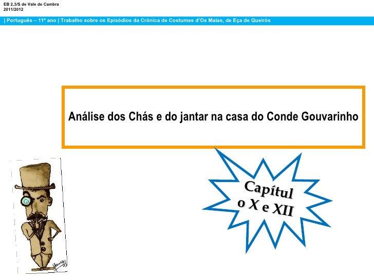 EB 2,3/S de Vale de Cambra2011/2012| Português – 11º ano | Trabalho sobre os Episódios da Crónica de Costumes d'Os Maias, ...