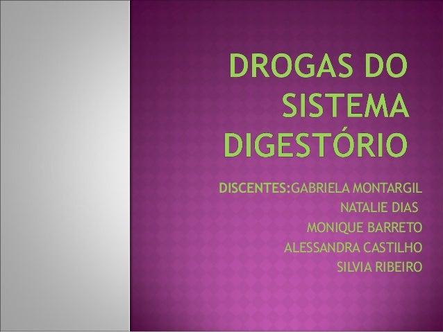 DISCENTES:GABRIELA MONTARGIL                 NATALIE DIAS            MONIQUE BARRETO         ALESSANDRA CASTILHO          ...