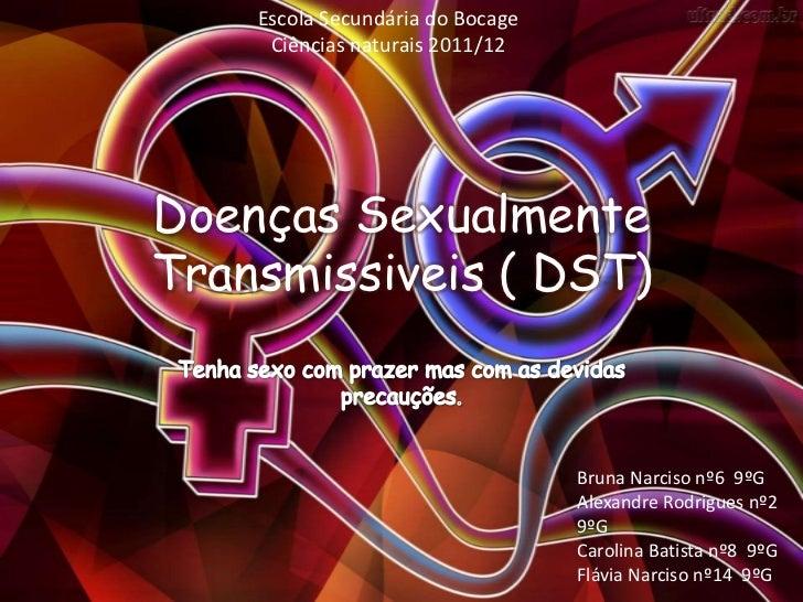Escola Secundária do Bocage     Ciências naturais 2011/12Doenças SexualmenteTransmissiveis ( DST)                         ...