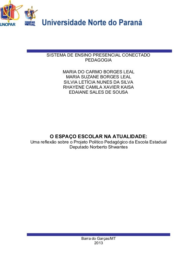 Barra do Garças/MT 2013 MARIA DO CARMO BORGES LEAL MARIA SUZANE BORGES LEAL SILVIA LETÍCIA NUNES DA SILVA RHAYENE CAMILA X...