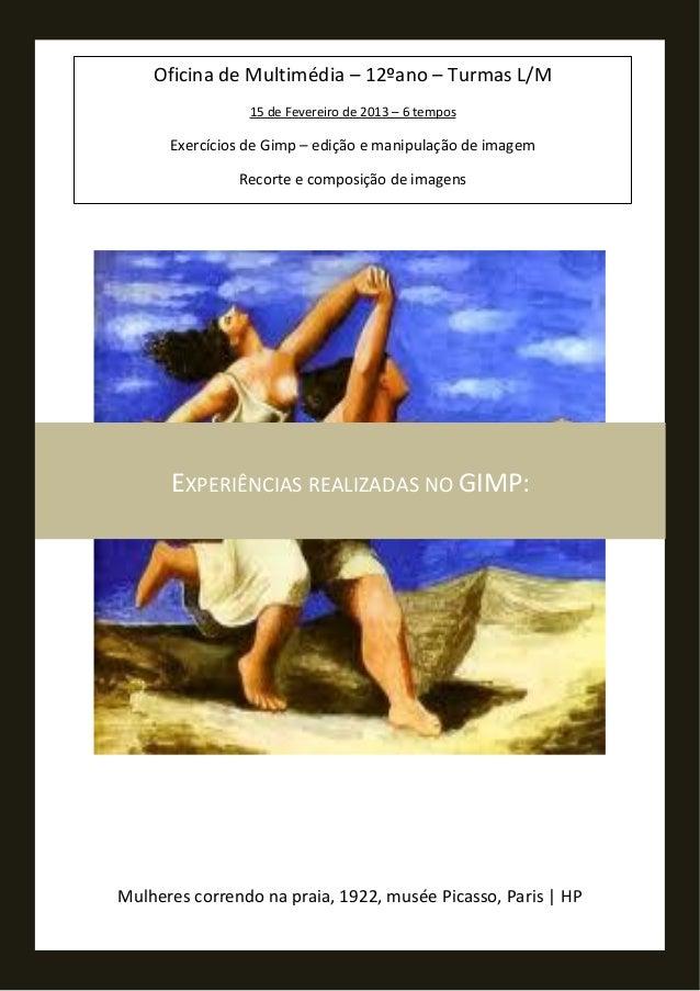 Mulheres correndo na praia, 1922, musée Picasso, Paris | HPEXPERIÊNCIAS REALIZADAS NO GIMP:Oficina de Multimédia – 12ºano ...