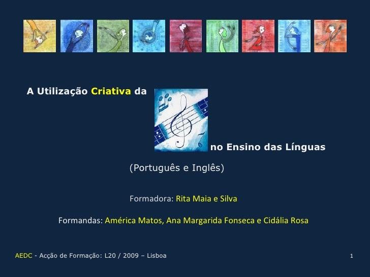 A Utilização Criativa da                                                           no Ensino das Línguas                  ...
