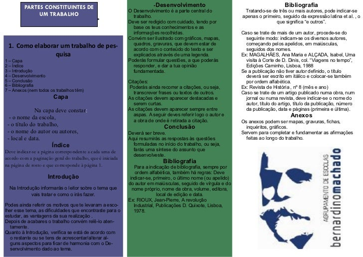 PARTES CONSTITUINTES DE                                       -Desenvolvimento                                            ...
