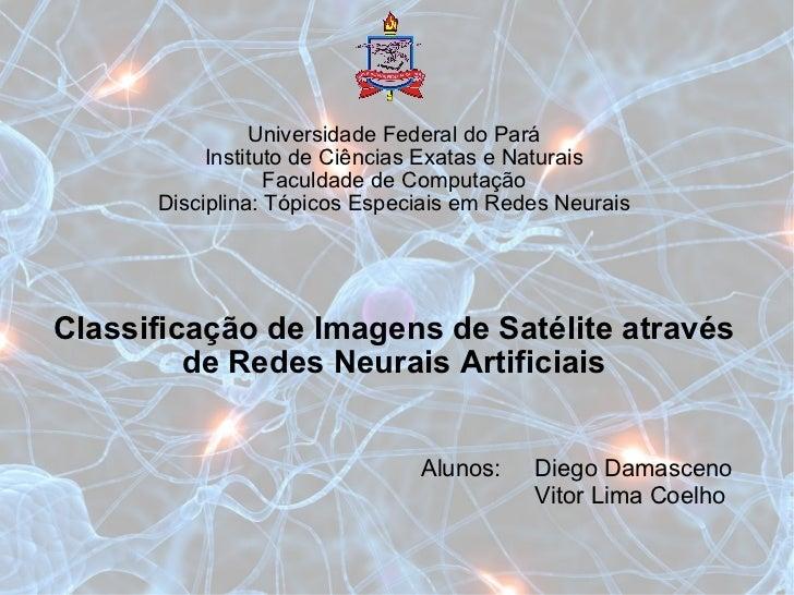 Classificação de Imagens de Satélite através de Redes Neurais Artificiais Universidade Federal do Pará Instituto de Ciênci...